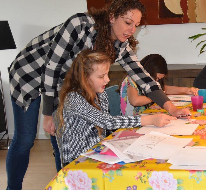 workshop naam in 3 D kinderfeestje