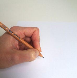 potlood vasthouden