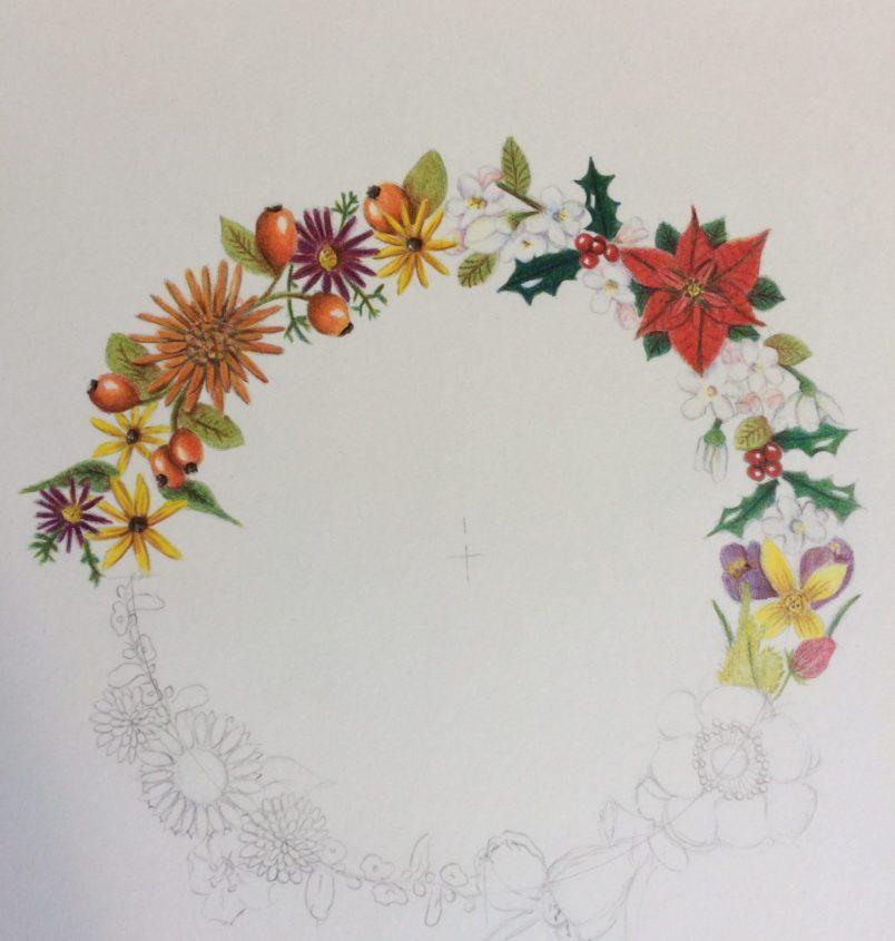 Bloemen krans