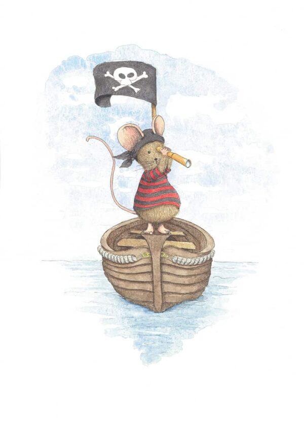 Poster van piraten muis