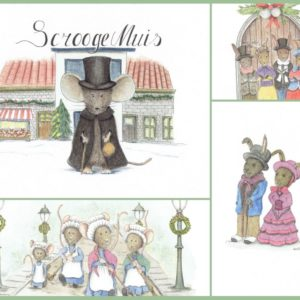 Kerstkaarten set Dickens