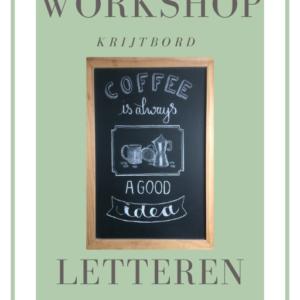 E-book workshop krijtbord letteren