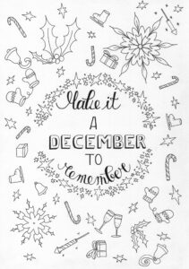 Gratis kleurplaat December