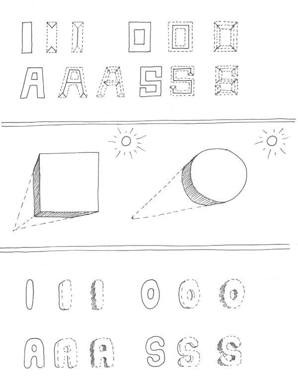 werkblad e-book krijtbord letteren