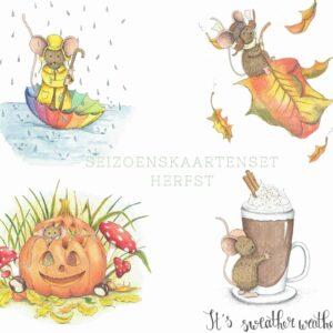 herfst kaartenset