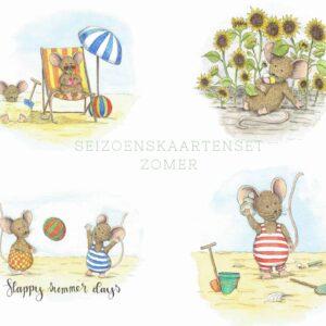 zomer kaartenset